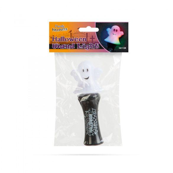 Halloween-i LED lámpa - szellem - elemes  58113B