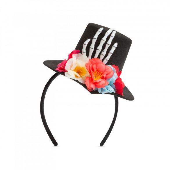 Halloween-i hajráf - kalap, csontváz  58119A