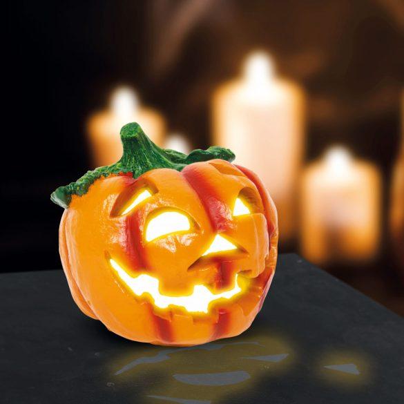 Halloween-i LED-es szolár tök - 15 x 15 cm  58122