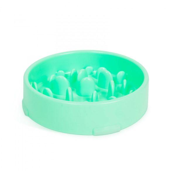 Etetőtál - habzsolásgátlóval - zöld  60009GR