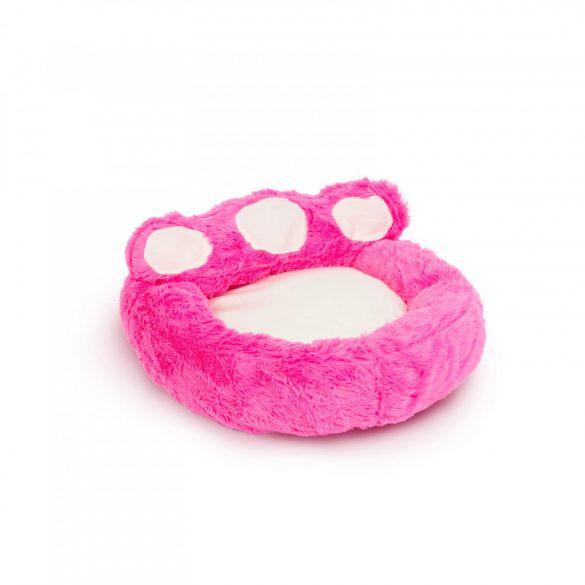 """Mancs alakú kutyafekhely - """"S"""" méret - rózsaszín - törtfehér  60015A"""