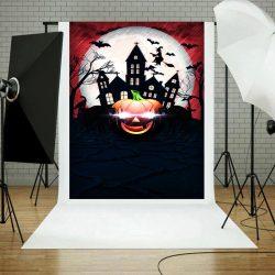 Vinyl háttér fotózáshoz. Halloween fotó háttér 150X210 cm 9512