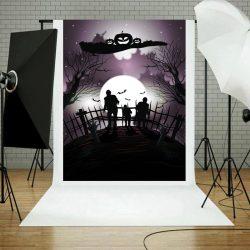 Vinyl háttér fotózáshoz. Halloween fotó háttér 150X210 cm 9519