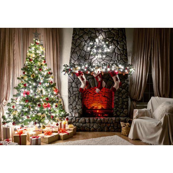 Vinyl háttér fotózáshoz. Karácsonyi fotó háttér 150X210 cm / 200cm x 300cm  SD-412