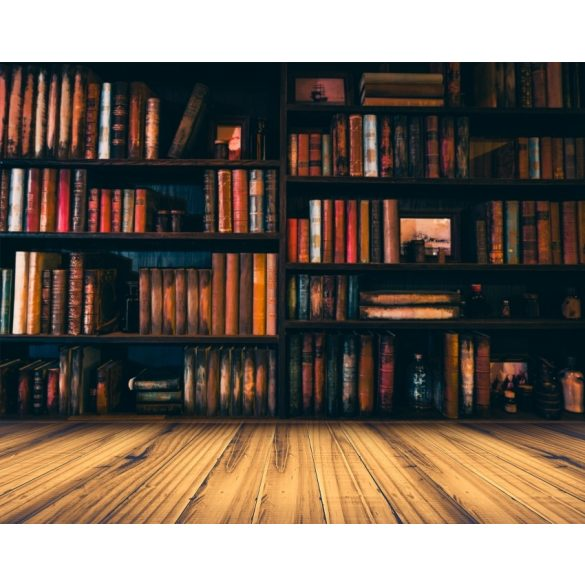 Vinyl háttér fotózáshoz.Könyvespolcot ábrázoló fotó háttér 150X210 cm c-1520