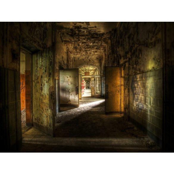 Vinyl háttér fotózáshoz.Romos folyosót ábrázoló fotó háttér 150X210 cm  c-870
