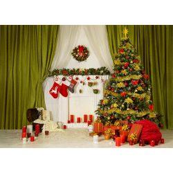 Vinyl háttér fotózáshoz.Karácsonyi fotó háttér 150cm x 210cm sd-178