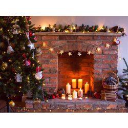 Vinyl háttér fotózáshoz.Karácsonyi kandallót ábrázoló fotó háttér 150cm x 210cm sd-306