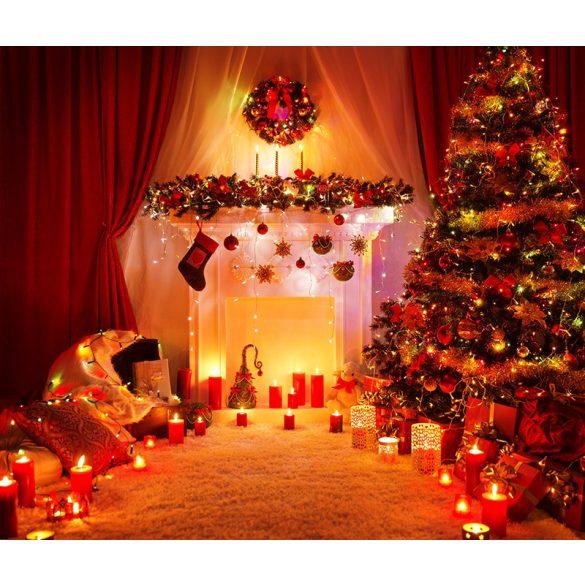 Vinyl háttér fotózáshoz. Karácsonyi fotó háttér 150cm x 210cm sd-413